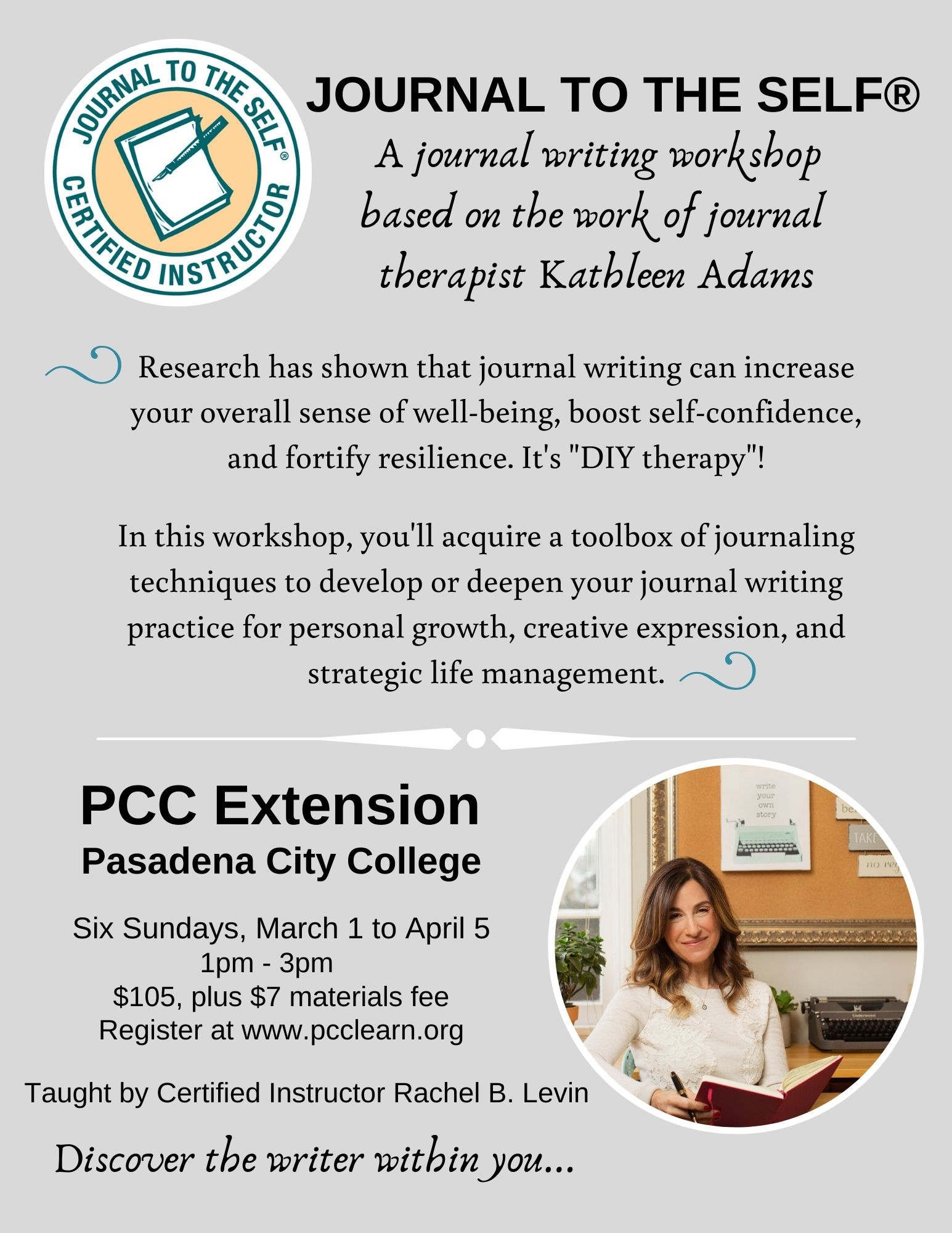 Journal to the Self at PCC Extension