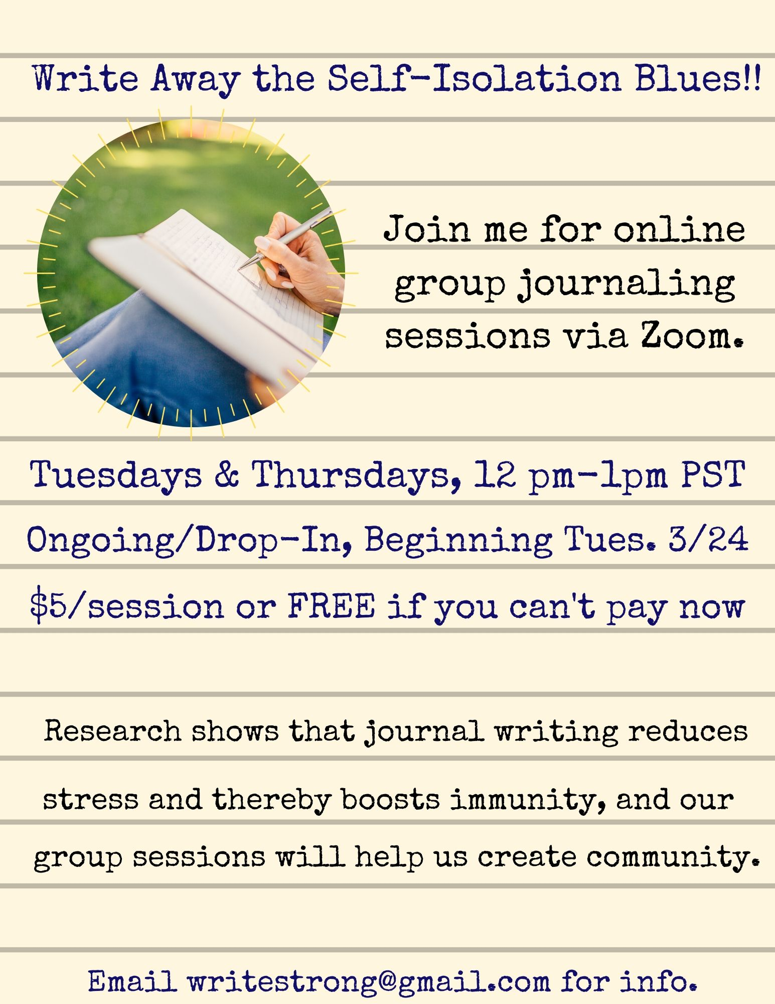 Introducing Online Journaling Sessions